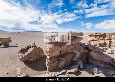 exploring the southern part of bolivia - Stock Photo