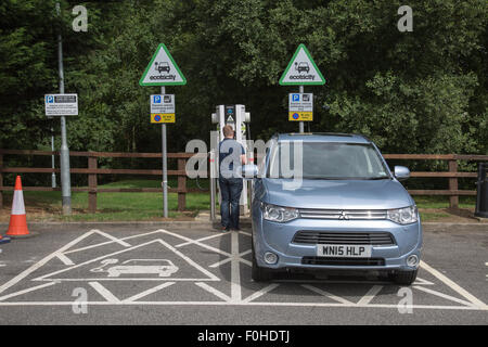 Electric car charge point - Stock Photo