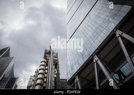 London city modern contemporary glass facade office block stock photo royalty free image - Modern architectural trio ...