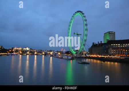 The London Eye, London, United Kingdom - Stock Photo