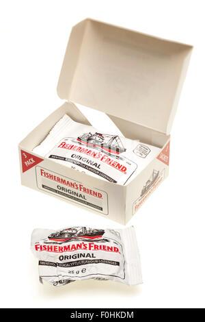 Fisherman's Friend original lozenges box Pack three - Stock Photo