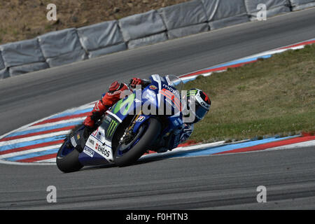 Brno, Czech Republic. 16th August, 2015. Czech Republic MotoGP. Gran Prix Bwin Jorge Lorenzo (Movistar Yamaha) during - Stock Photo