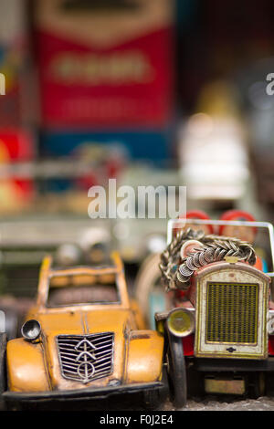 Old French Toy car in a market in shanghai - Stock Photo