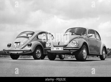 transport / transportation, car, vehicle variants, Volkswagen, VW beetle 1200 left and 1303 A, 1974, Additional - Stock Photo