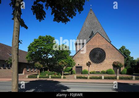 Katholische Kirche Ringenberg in Hamminkeln, Niederrhein, Nordrhein-Westfalen - Stock Photo