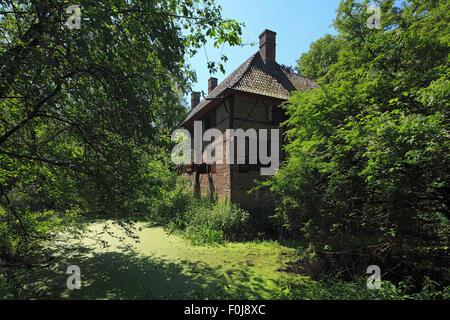 Herrenhaus auf Gut Venninghausen in Hamminkeln-Bruenen, Niederrhein, Nordrhein-Westfalen - Stock Photo