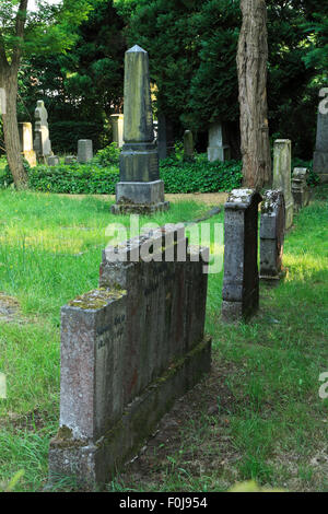 Juedischer Friedhof in Geldern, Niederrhein, Nordrhein-Westfalen - Stock Photo