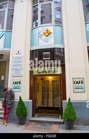 Cafe Leopold Hawelka, cafe in Altstadt, Vienna, Austria - Stock Photo