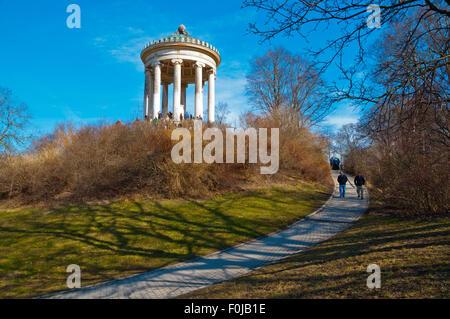 Englischer Style englischer garten park with monopteros temple munich bavaria stock photo royalty free