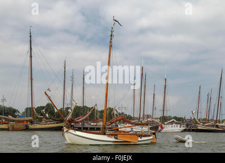 Maritime mood on the IJsselmeer, at the historic city of Enkhuizen, North Holland, The Netherlands. - Stock Photo