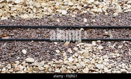 Narrow Gauge Railway Track - Stock Photo