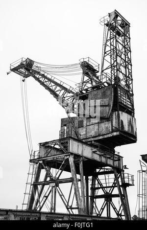 Crane at Battersea Power Station, London, England, United Kingdom - Stock Photo