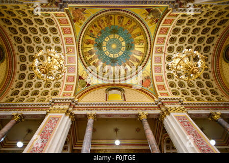 The ceiling of the Grand Staircase at the Foreign and Commonwealth Office, London, England, UK - Stock Photo