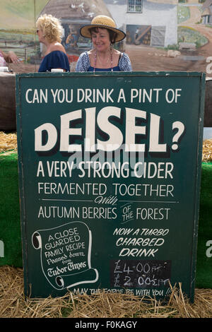 Cider Stall at the Isle of Wight Garlic Festival England UK - Stock Photo