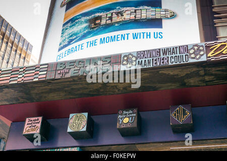 Detail of 'FAILE: Wishing on You' in Times Square in New York on Monday, August 17, 2015. The installation which - Stock Photo