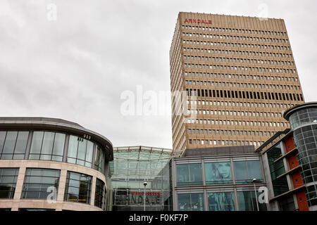 The arndale shopping centre and office tower Manchester England UK - Stock Photo