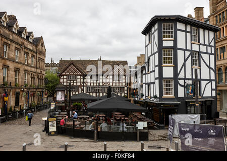 sinclairs oyster bar and old wellington inn in shambles square Manchester England UK - Stock Photo