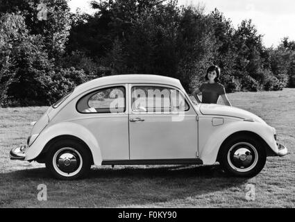 transport / transportation, car, vehicle variants, Volkswagen, VW 1200 beetle, side view, 1968, Additional-Rights - Stock Photo