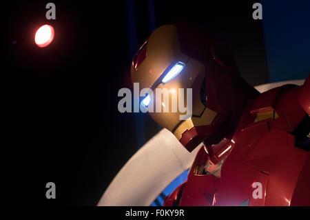 Iron Man - Madame Tussauds Hong Kong,  wax museum at the Peak Tower on Hong Kong Island - Stock Photo