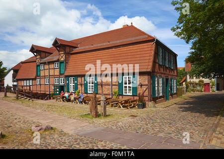 Town Mill in Teterow, Mecklenburg Western Pomerania, Germany - Stock Photo