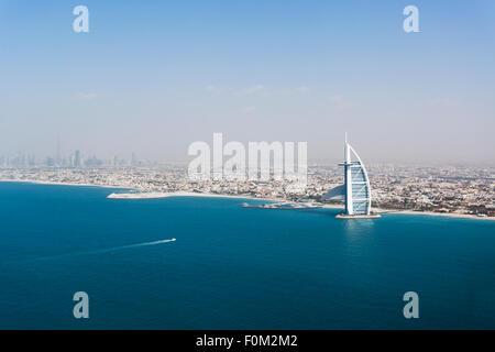 Coast with Burj Al Arab, Dubai, UAE - Stock Photo