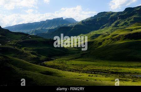 Drakensberg range, Kwazulu Natal, South Africa - Stock Photo