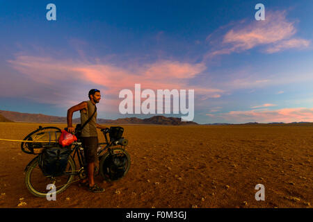 Cycling in the Namib desert, Namibia, Africa