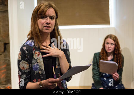 Leith, UK. 16th Aug, 2015. The Village Pub Theatre in Leith is presenting a series of script-in-hand performances - Stock Photo