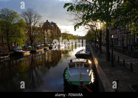 Prinsengracht canal in Amsterdam by Alex Robinson - Stock Photo