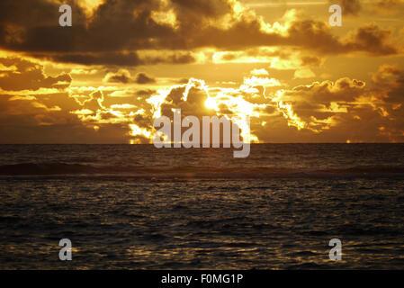 Sunset, Banda Aceh, Sumatra, Indonesia - Stock Photo