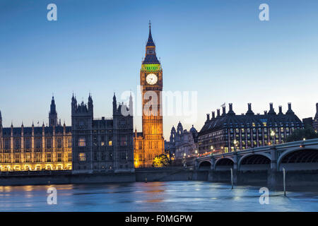 London, Houses of Parliament (Palace of Westminster), Thames and Westminster Bridge