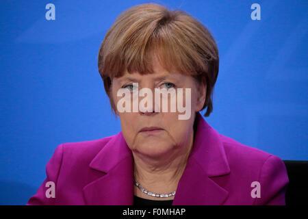 BKin Angela Merkel - Treffen der Bundeskanzlerin mit den Vorsitzenden internationaler Wirtschafts- und Finanzorganisationen, - Stock Photo