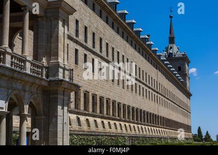 Royal Site of San Lorenzo de El Escorial, Spain - Stock Photo