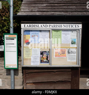 Eardisland Herefordshire village and parish notice board with information for residents and visitors UK - Stock Photo