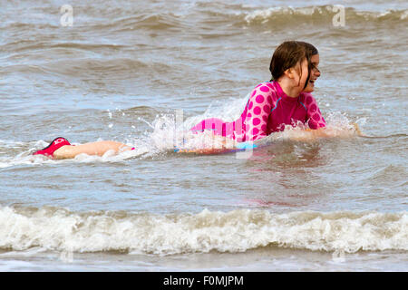 Freshfield, Formby, Southport, Merseyside, UK. 18th Aug, 2015. Visitors to the National Trust dunes and beaches. - Stock Photo