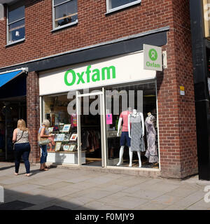 Oxfam charity shop in Leominster Herefordshire UK - Stock Photo