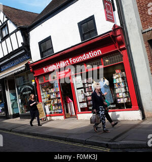 British Heart Foundation charity shop in Leominster Herefordshire UK - Stock Photo