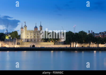 The Tower of London, London castle, royal palace and medieval prison in London, England - Stock Photo
