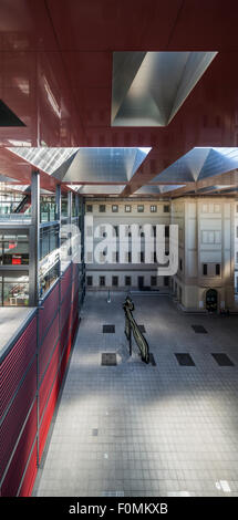 courtyard, Jean Nouvel extension, Museo Nacional Centro de Arte Reina Sofía, Madrid, Spain - Stock Photo