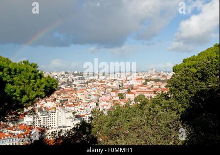 View on the City of Lisbon in Portugal - Stock Photo