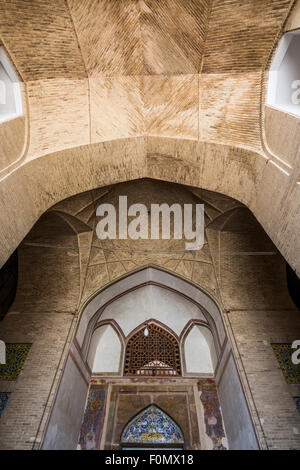 entrance of Ali Qapu, Maidan-i Shah, Isfahan, Iran - Stock Photo
