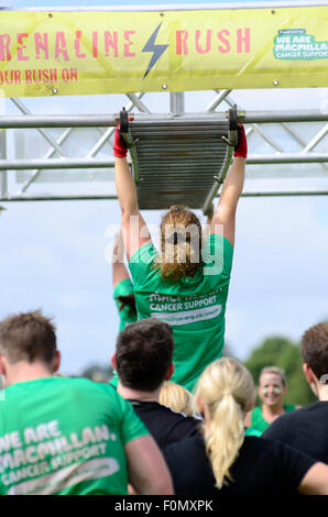 Adrenaline Rush Team MacMillan Cancer participants - Stock Photo