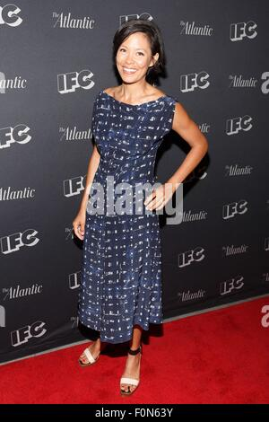 New York, NY, USA. 18th Aug, 2015. Alex Wagner at arrivals for IFC'S DOCUMENTARY NOW! Premiere, New World Stages, - Stock Photo