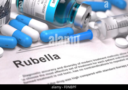 Diagnosis - Rubella. Medical Concept. 3D Render. - Stock Photo
