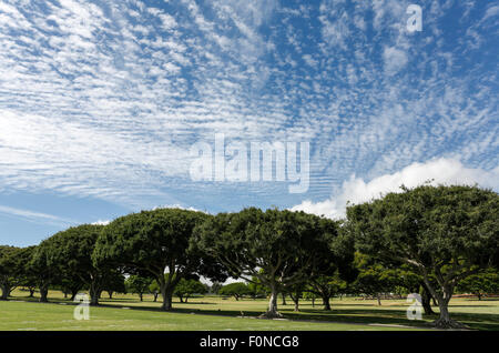 Honolulu, Hawaii, USA. 12th Aug, 2015. National Memorial Cemetery of the Pacific (Punchbowl Cemetery) located on - Stock Photo