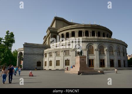 Opera and ballet theater, Yerevan, Armenia - Stock Photo