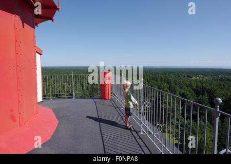 View from the balcony of the Kõpu Lighthouse. Island Hiiumaa, Estonia 07th August. 2015 - Stock Photo