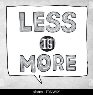 Less is More Minimal Simplicity Efficient Complexity Concept - Stock Photo