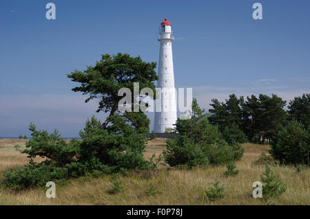 Tahkuna lighthouse. Island Hiiumaa. Estonia 06th August, 2015 - Stock Photo