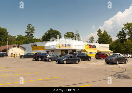 No Frills Grocery Store in Grand Bend, Ontario, Canada - Stock Photo
